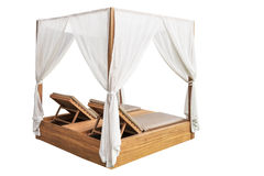 Empty beach chair spa sun bed Stock Photography