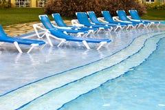 Free Empty Beach Chairs Near Pool Stock Photos - 60478543