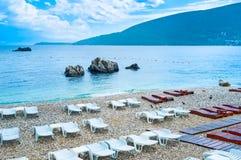 The empty beach Stock Photo