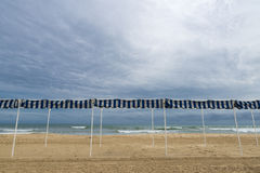 Empty beach in Costa Daurada Stock Photography