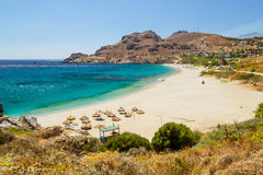 Empty beach on Crete Stock Photos