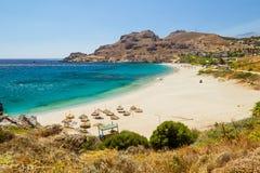 Empty beach on Crete Stock Photos