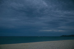 Empty beach at dusk Royalty Free Stock Images