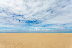 Empty beach at the Dutch island of Texel Royalty Free Stock Photography