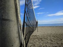 Empty beach. In Cambrils Spain Royalty Free Stock Images