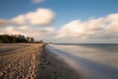 Empty beach at Fort Lauderdale Stock Images