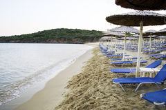 Empty beach Greece Royalty Free Stock Photo