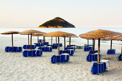 Empty beach, Greece Stock Images