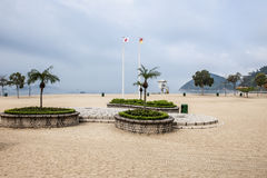 Empty beach in Hong Kong Royalty Free Stock Photography