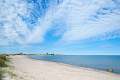 Empty beach on the island Oland, Sweden Royalty Free Stock Photos