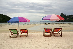 empty beach ko phiphi thailand Royalty Free Stock Photography