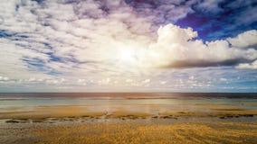 Beach of Landrezac, Sarzeau, Morbihan, Brittany Bretagne, Fran. Empty beach of Landrezac in early spring, Sarzeau, Morbihan, Brittany Bretagne, France Stock Image