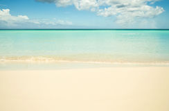 Empty beach. Landscape view of a Empty beach Stock Image
