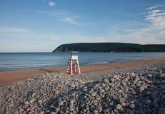 An empty beach stock photos