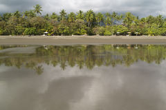 Empty Beach in Matapalo, Costa Rica Royalty Free Stock Images