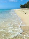 Empty beach in Mauritius, Indian Ocean. Empty beach in Mauritius, coast of Indian Ocean Royalty Free Stock Photo