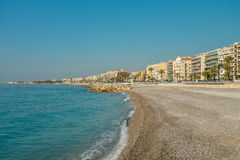 Empty beach in Nice Royalty Free Stock Image