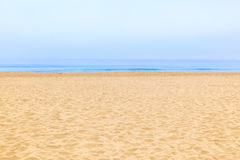 Empty beach with ocean  in the morning Royalty Free Stock Image