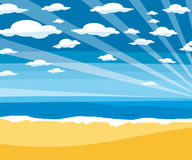 Empty beach paradise vector Stock Photos