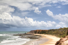 Empty beach at Praia de Pipa. Empty beach close to Pipa, Brazil Royalty Free Stock Photos