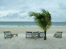 Empty Beach Resort Royalty Free Stock Photography