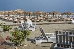 Empty Beach. Romanian Black Sea Royalty Free Stock Photography