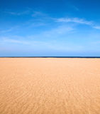 Empty beach scene Royalty Free Stock Images