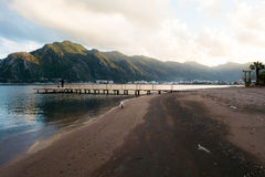 Empty beach. Scenery at Marmaris Royalty Free Stock Images