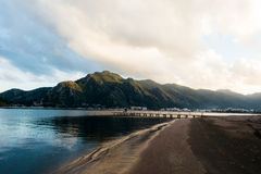 Empty beach. Scenery at Marmaris royalty free stock photo