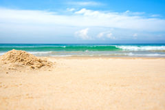 Empty beach and sea. Background Royalty Free Stock Photo