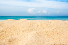 Empty beach and sea blue sky. Empty beach and sea background Royalty Free Stock Images