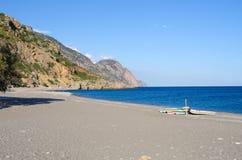 Empty beach of Sougia, Crete, Greece Royalty Free Stock Photography