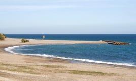 Empty Beach Spain stock image