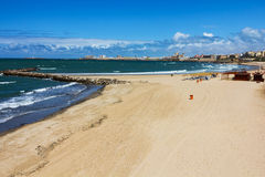 Empty beach in Spain Royalty Free Stock Photography