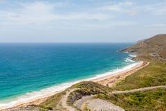 Empty Beach on St Kitts Stock Photography