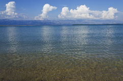 Empty beach in the summer day Royalty Free Stock Photo