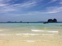 Empty beach in thailand Stock Photos
