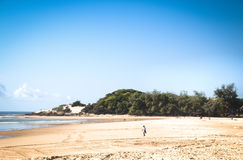 Empty beach in the town Tofo Stock Image