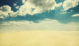 Empty beach, vintage look Royalty Free Stock Photos