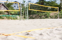 Empty beach volleyball court Royalty Free Stock Images