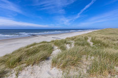 Empty beach on Wadden island Stock Images
