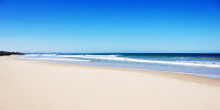 Empty beach with white sand. And blue water Stock Image