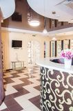Empty beautiful room in day spa. Empty beautiful reception room in i day spa with many decoration Stock Photo