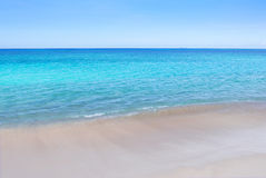 Empty Beautiful Tropical Beach View Royalty Free Stock Photography