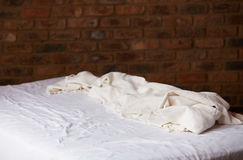 Empty bed Royalty Free Stock Image