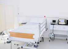 Empty bed in the hospital room Royalty Free Stock Photo