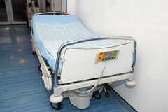 Empty bed at intensive care unit Stock Photos
