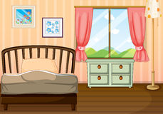 An empty bedroom royalty free illustration