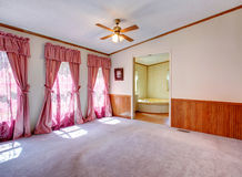 Empty bedroom with nice window treatment Stock Photography