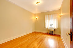 Empty bedroom in an old apartment Royalty Free Stock Photos